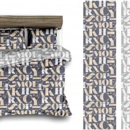 Комплект постельного белья с большими буквами
