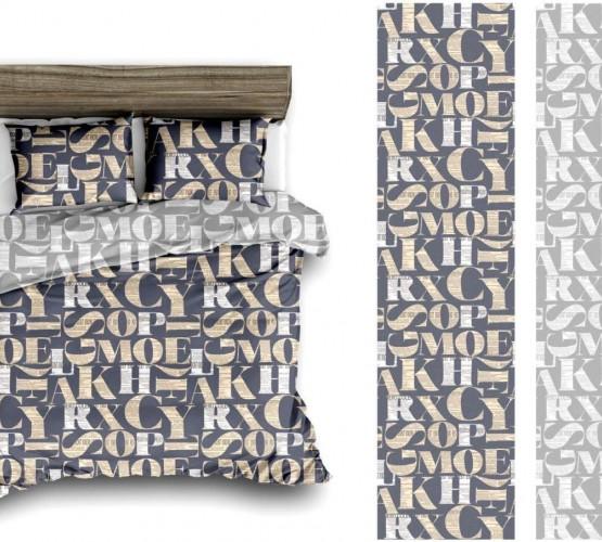 Комплект постельного белья с большими буквами (2020 - 12) фото 1