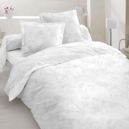 ткань сатин № 20-0653 WHITE ON WHITЕ