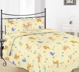 """Комплект постельного белья в кроватку (""""бемби беж"""") фото 2"""