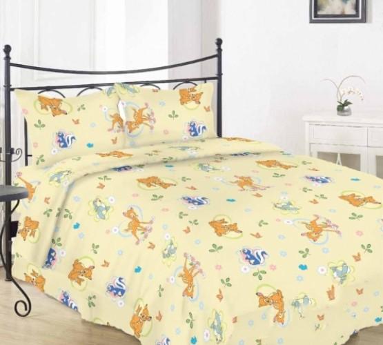"""Комплект постельного белья в кроватку (""""бемби беж"""") фото 1"""