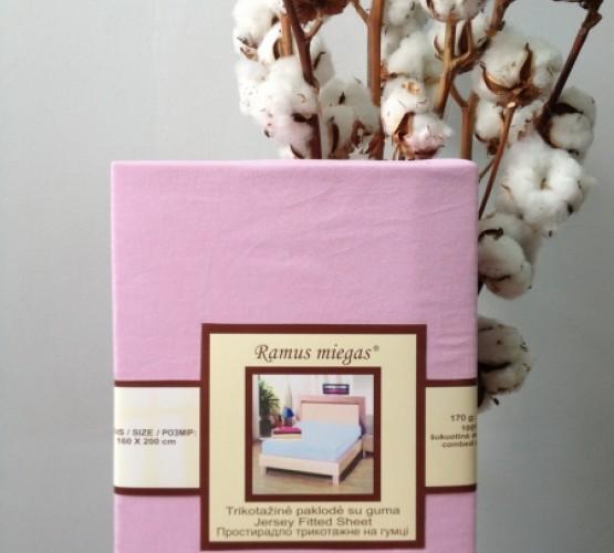 Простынь на резинке розовая (Простынь на резинке розовая) фото 1