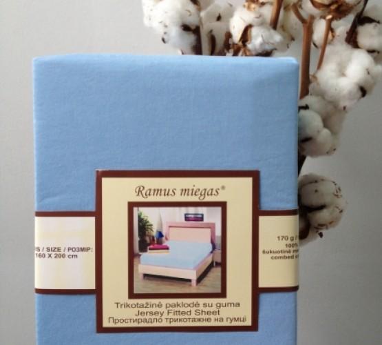 Простынь на резинке голубая (Простынь на резинке голубая) фото 1