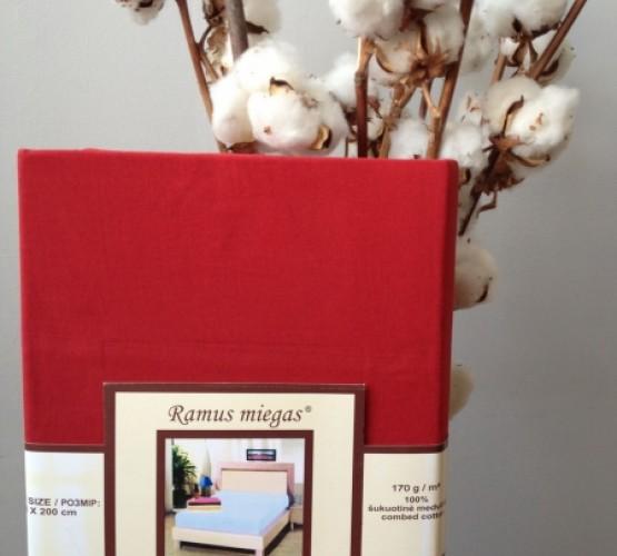 Простынь на резинке красная (Простынь на резинке красная) фото 1