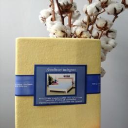 Простынь на резинке жёлтая