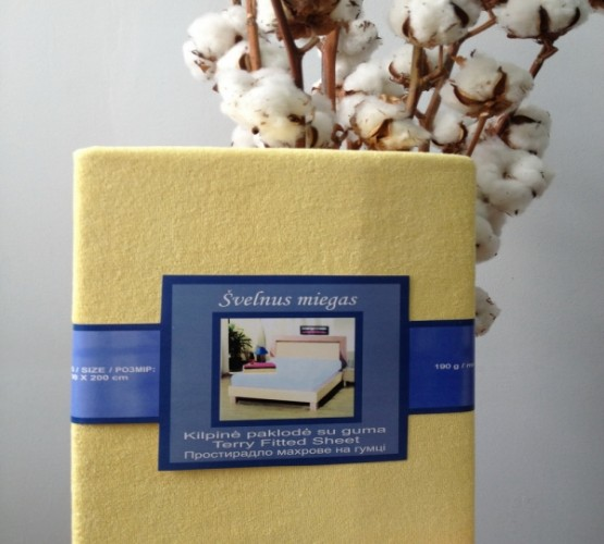 Простынь на резинке жёлтая (Простынь на резинке жёлтая) фото 1