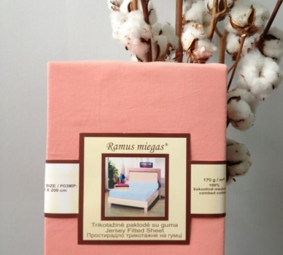 Простынь на резинке персиковая (Простынь на резинке персиковая) фото 1