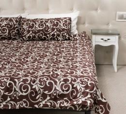 Комплект постельного белья с коричневым  узором, бязь Голд () фото 4
