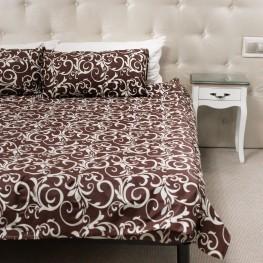 Комплект постельного белья с коричневым  узором, бязь Голд