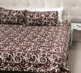Комплект постельного белья с коричневым  узором, бязь Голд () фото 3
