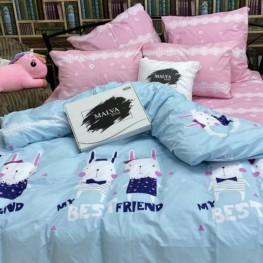 Комплект постельного белья Зайки