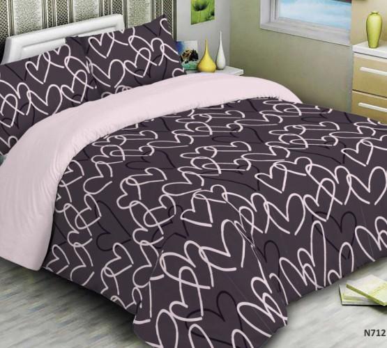Комплект постельного белья сердечки бордо (Комплект постельного белья сердечки бордо) фото 1