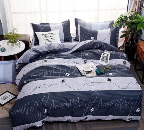 Комплект постельного белья синий в полоску (Комплект постельного белья синий в полоску) фото 1