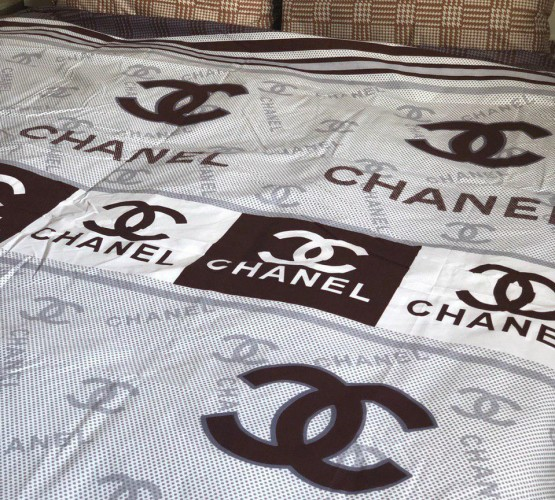 Комплект постельного белья бязь голд Chanel brown (Комплект постельного белья бязь голд Chanel brown) фото 1