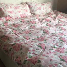 Комплект постельного белья бязь голд  pink flower
