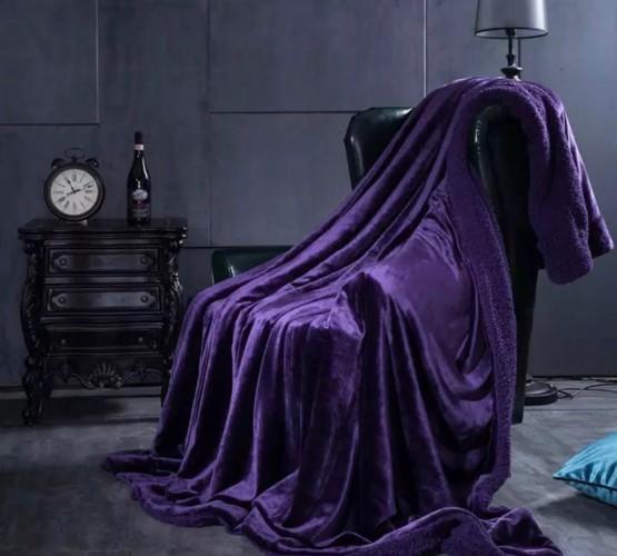 Плед овечка purple (Плед овечка purple) фото 1