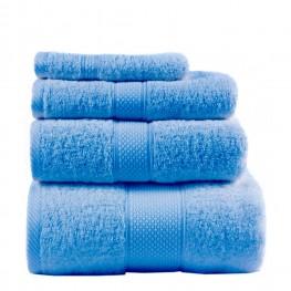Полотенце махровое, синее 50х90 см