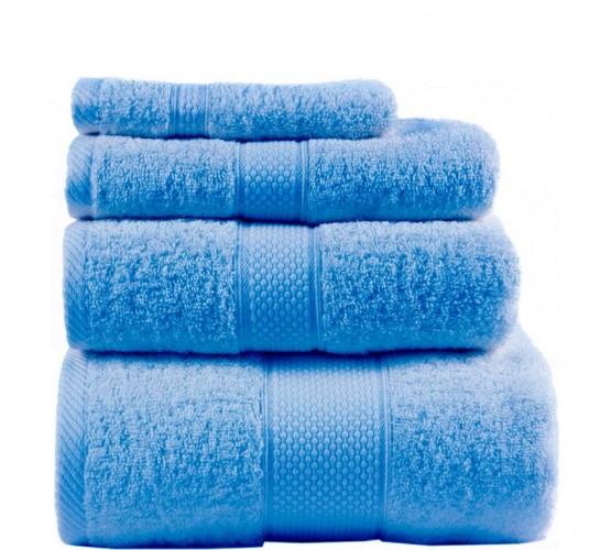 Полотенце махровое, синее 50х90 см () фото 1