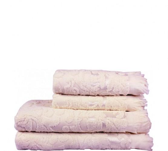 Полотенце махровое розовое с рисунком, 50х90 см () фото 1