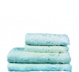 Полотенце махровое голубое с рисунком, 50х90 см () фото 5