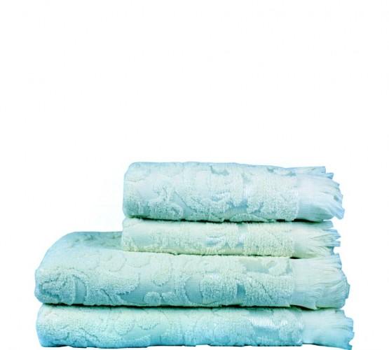 Полотенце махровое голубое с рисунком, 50х90 см () фото 1