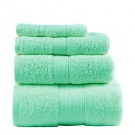 Полотенце махровое, зеленое 50х90 см
