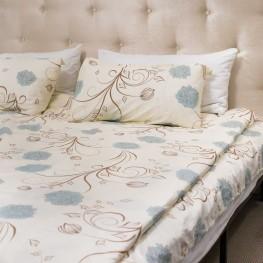 Комплект постельного белья c цветочным узором, сатин
