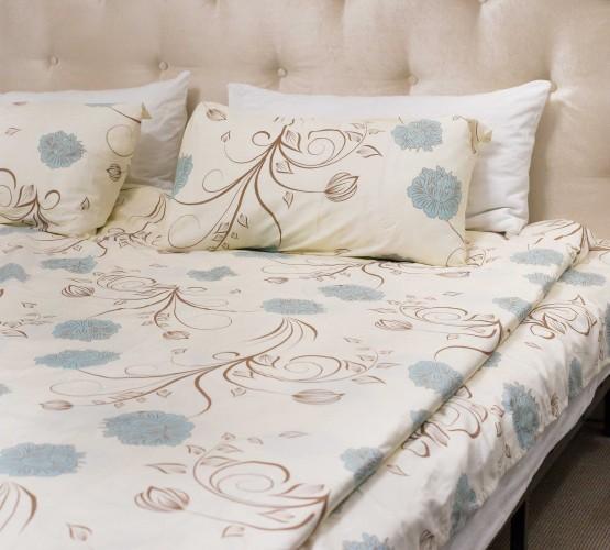 Комплект постельного белья c цветочным узором, сатин (68096565) фото 1