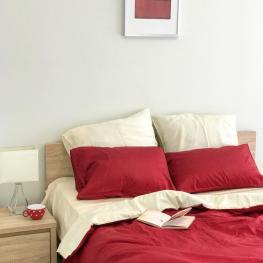 Комплект постельного белья сатин, vanilla cherry