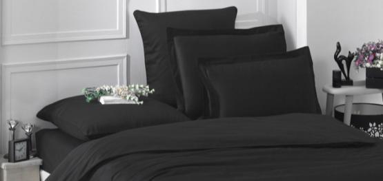 Комплект постельного белья Black satin