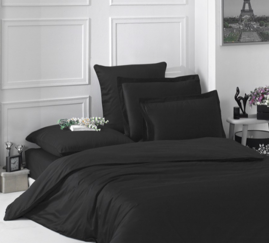 Комплект постельного белья Black satin (Black satin) фото 1