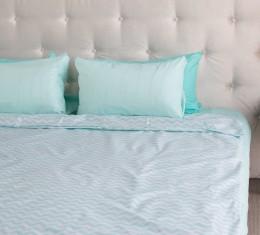 """Комплект постельного белья  """"Голубой"""", хлопок  (68096565) фото 6"""