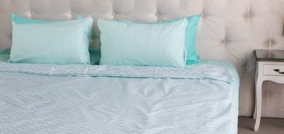 """Комплект постельного белья  """"Голубой"""", хлопок"""