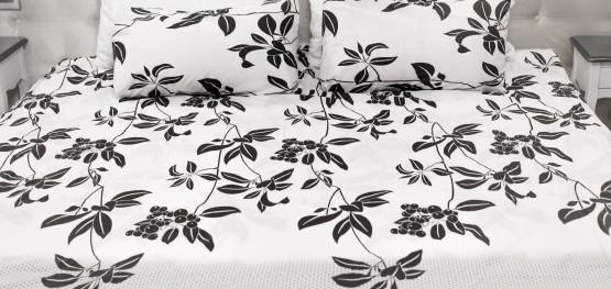 Комплект постельного белья c цветочным  узором, хлопок