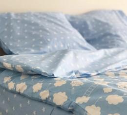 Комплект постельного белья ранфорс Blue Cloud (Комплект постельного белья ранфорс Blue Cloud) фото 2