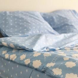 Комплект постельного белья ранфорс Blue Cloud