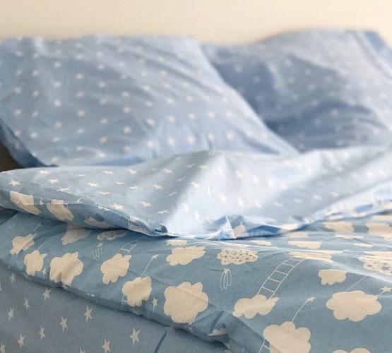 Комплект постельного белья ранфорс Blue Cloud (Комплект постельного белья ранфорс Blue Cloud) фото 1