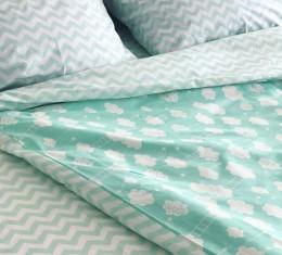 Комплект постельного белья ранфорс Mint Cloud (Комплект постельного белья ранфорс Mint Cloud) фото 2