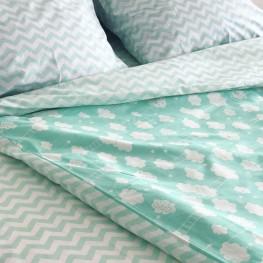 Комплект постельного белья ранфорс Mint Cloud