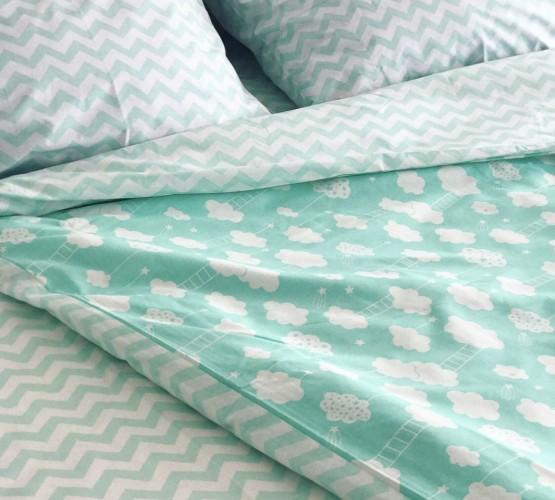 Комплект постельного белья ранфорс Mint Cloud (Комплект постельного белья ранфорс Mint Cloud) фото 1
